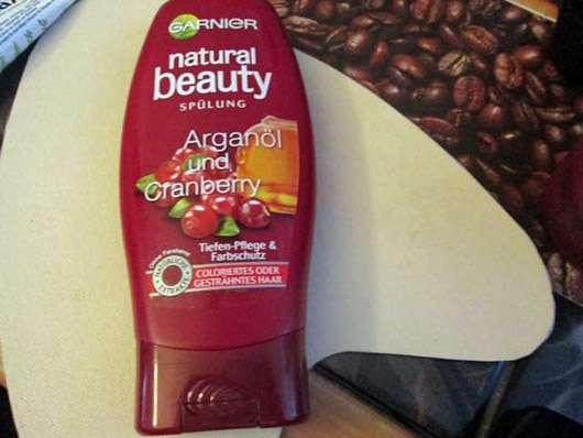 <strong>Garnier Natural Beauty</strong> Spülung Arganöl und Cranberry