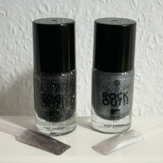 essence rock out!! nail polish, Farben: 01 best rock und 02 best hip hop (LE)