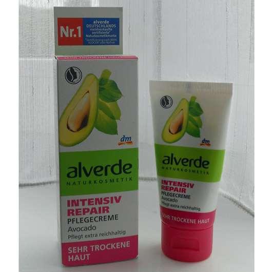 alverde Intensiv Repair Pflegecreme Avocado