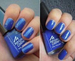 Produktbild zu MANHATTAN Birthday Colours Nail Polish – Farbe: 009 Blue Party Dress (LE)