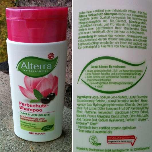 Alterra Farbschutz-Shampoo Olive Lotusblüte