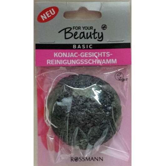for your beauty Konjac-Gesichtsreinigungsschwamm (Bambusholzkohle)