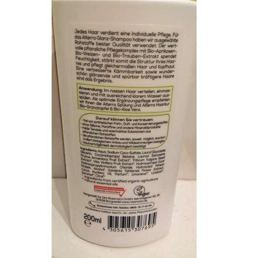 Alterra Glanz-Shampoo Bio-Aprikose & Bio-Weizen