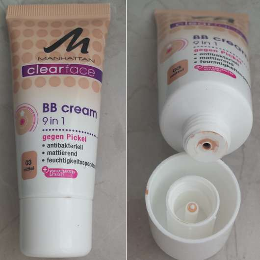 <strong>MANHATTAN CLEARFACE</strong> BB Cream 9 in 1 - Farbe: 03 mittel