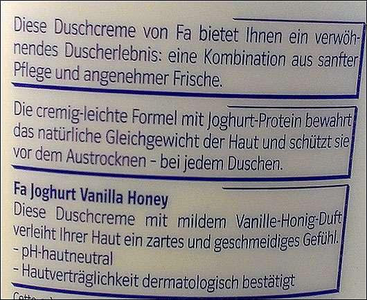 Fa Joghurt Vanilla Honey Duschcreme
