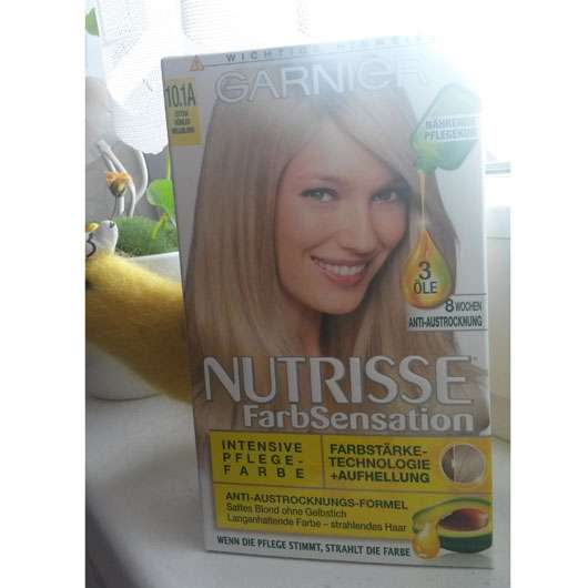 Garnier Nutrisse FarbSensation Intensive Pflegefarbe, Farbe: 10.1A Extra kühles Hellblond