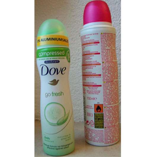 Dove go fresh compressed Deodorant Grüner Tee- & Gurkenduft
