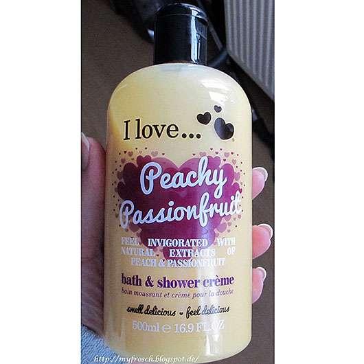 <strong>I love…</strong> Peachy Passionfruit bath & shower crème (LE)