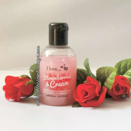 I love… Strawberries & Cream bubble bath and shower crème