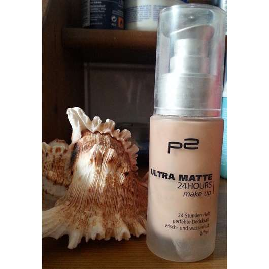 p2 ultra matte 24hours make up, Farbe: 010 matte shell