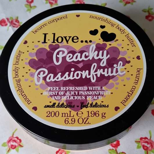 I love… Peachy Passionfruit nourishing body butter (LE)
