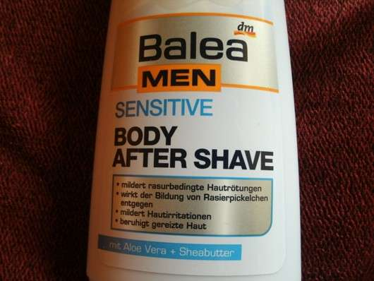 Balea Men Sensitive Body After Shave mit Aloe Vera & Sheabutter