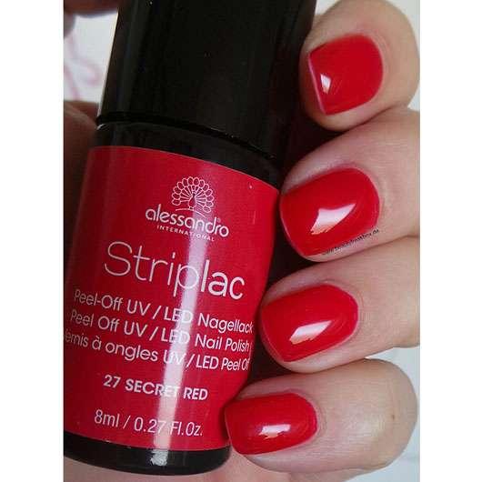 alessandro International Striplac Peel-Off UV / LED Nagellack, Farbe: 27 Secret Red