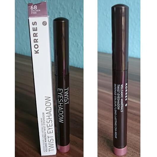 KORRES Volcanic Minerals Twist Eyeshadow, Farbe: 68 Golden Pink