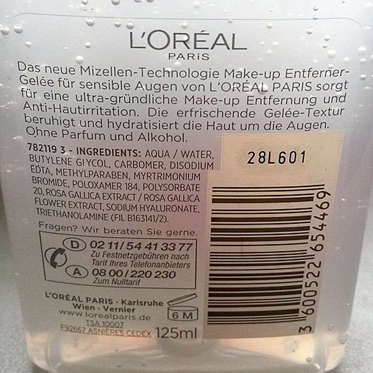 L'Oréal Paris Augen-Make-Up-Entferner Mizellen-Technologie