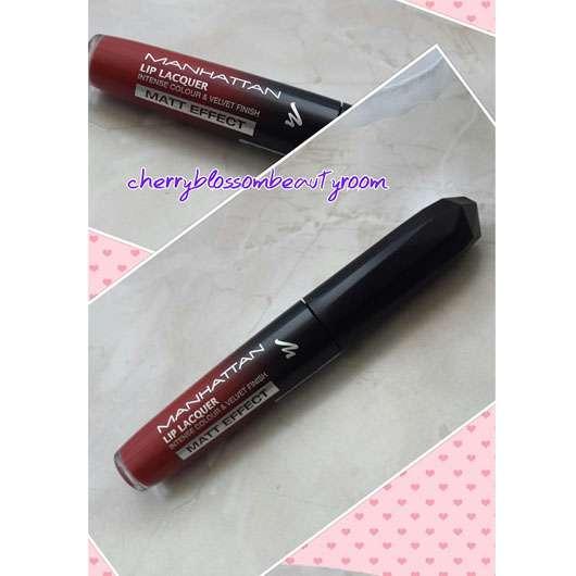 Manhattan Lip Lacquer Matt Effect, Farbe: 100 Red Velvet