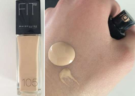 Maybelline Fit Me! Foundation, Farbe: 105 natural ivory