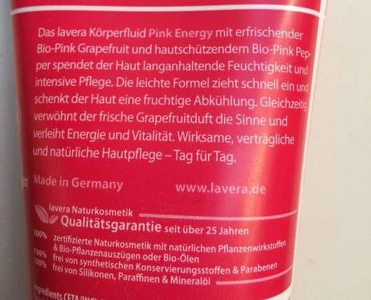 lavera Pink Energy Körperfluid (LE)