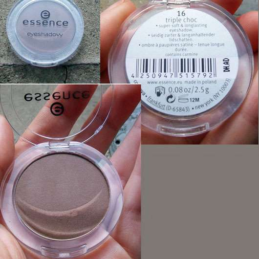 essence mono eyeshadow, Farben: 14 chilli vanilli & 16 triple choc