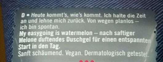 fruttini my easygoing is watermelon shower gel