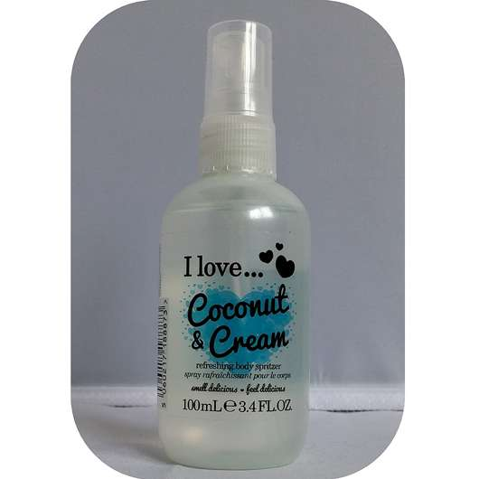 <strong>I love…</strong> Coconut & Cream Refreshing Body Spritzer
