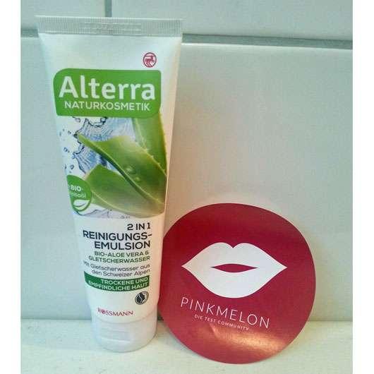 Alterra 2 in 1 Reinigungsemulsion Bio-Aloe Vera & Gletscherwasser