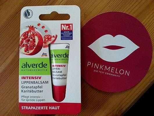 alverde Intensiv Lippenbalsam Granatapfel Karitébutter