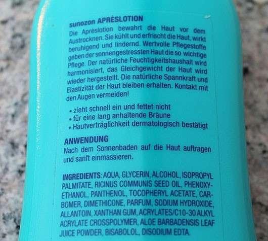 SunOzon Aprèslotion (mit Vitamin E)