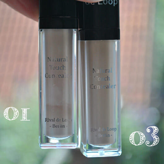 Rival de Loop Natural Touch Concealer, Farbe: 01 und 03