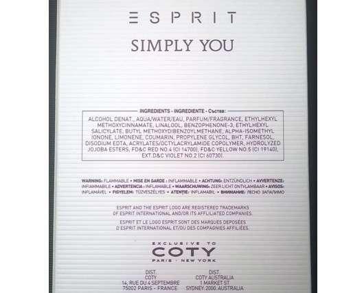 Esprit Simply You for women Eau de Toilette