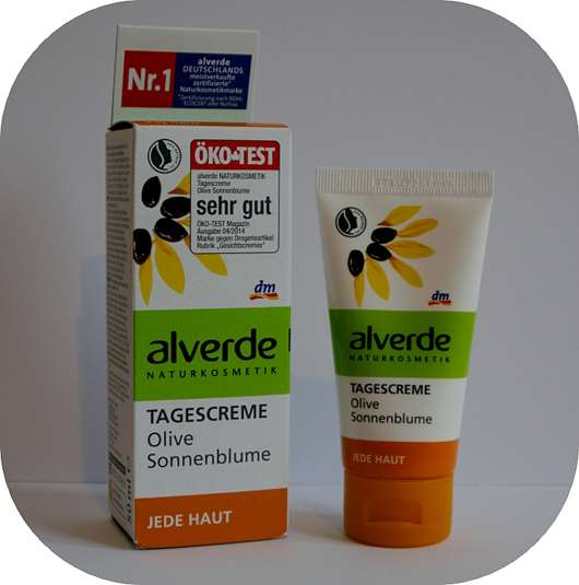 alverde Tagescreme Olive Sonnenblume