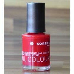 Produktbild zu KORRES Myrrh & Oligoelements Nail Colour – Farbe: 48 Coral Red
