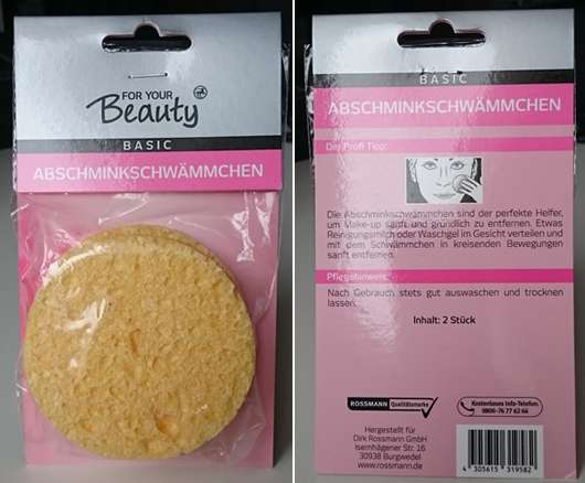 <strong>for your Beauty Basic</strong> Abschminkschwämmchen