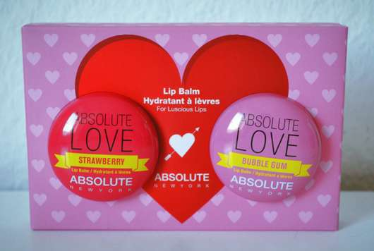 """ABSOLUTE NEW YORK Duo Lip Balm """"Absolute Love"""" (Strawberry + Bubble Gum)"""