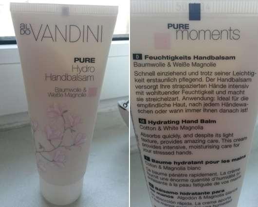 Aldo Vandini Pure Hydro Handbalsam Baumwolle & Weiße Magnolie