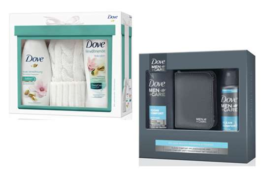 Geschenkideen von Dove und Dove MEN+CARE