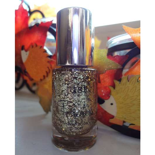 just cosmetics endless shine top coat, Farbe: 010 glittery gold (LE)