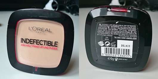 L'OREAL Indefectible 24H Halt Make-Up und Puder - Farbe: 225 Beige