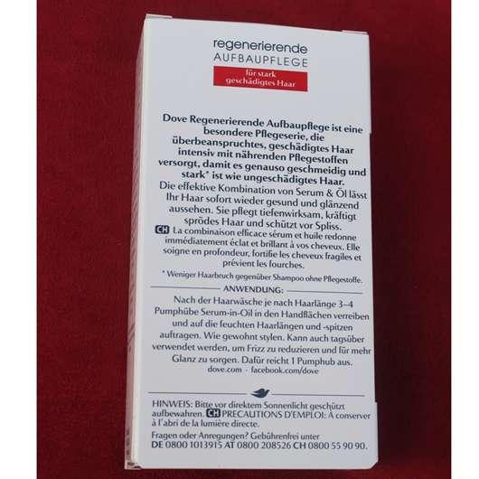Dove Advanced Hair Series Regenerierende Aufbaupflege Serum-in-Oil