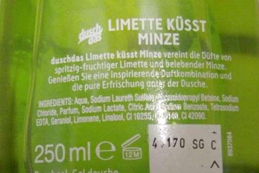 duschdas Limette küsst Minze Duschgel
