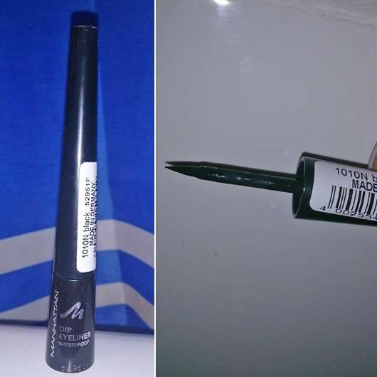 Manhattan Dip Eyeliner Waterproof, Farbe: 1010N Black
