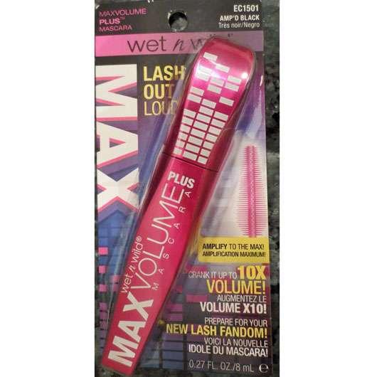 wet n wild Max Volume PLUS Mascara, Farbe: Black