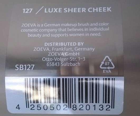Zoeva 127 Luxe Sheer Cheek