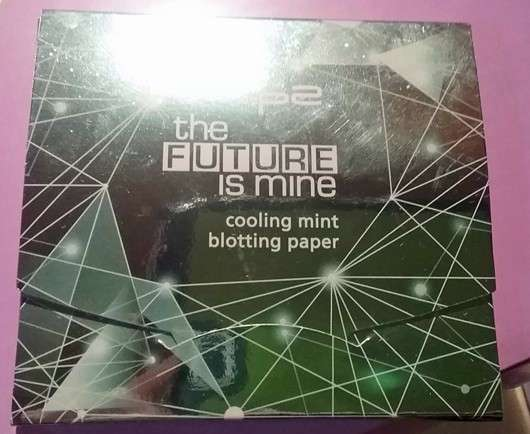 p2 the future is mine cooling mint blotting paper
