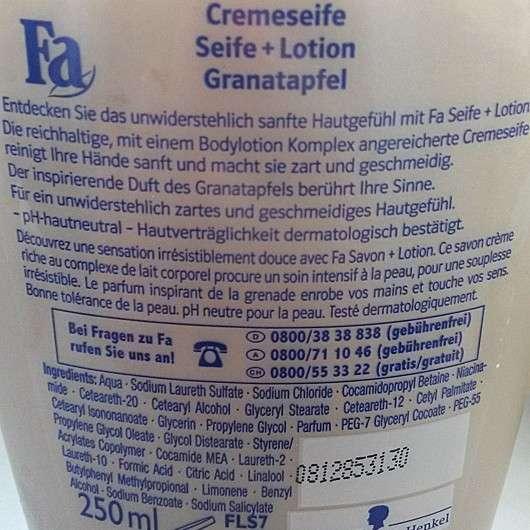 Fa Seife & Lotion Granatapfel Flüssigseife