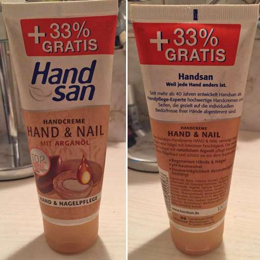 <strong>HandSan</strong> Handcreme Hand & Nail mit Arganöl