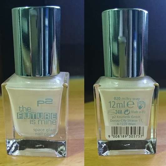 p2 the future is mine space glam nail polish, Farbe: 020 milky way (LE)