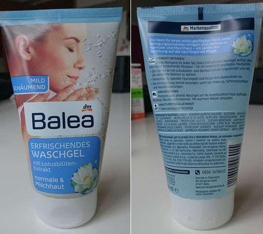 Balea Erfrischendes Waschgel mit Lotusblüten-Extrakt (normale & Mischhaut)