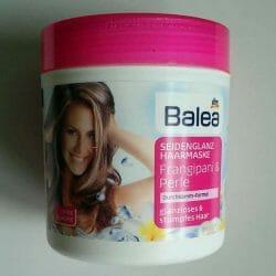Produktbild zu Balea Seidenglanz Haarmaske Frangipani & Perle
