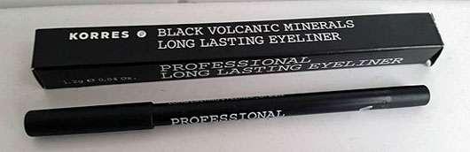 KORRES Black Volcanic Minerals Professional Long Lasting Eyeliner, Farbe: 01 black